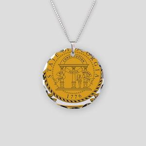 Georgia Seal Necklace Circle Charm