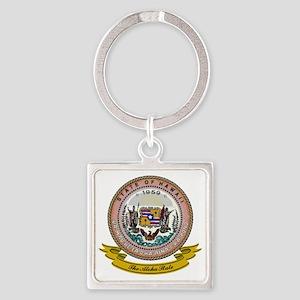 Hawaii Seal Square Keychain