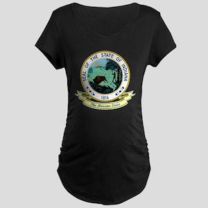 Indiana Seal Maternity Dark T-Shirt