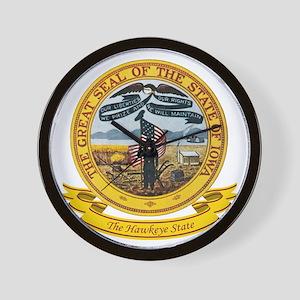 Iowa Seal Wall Clock