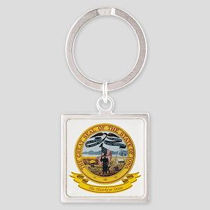 Iowa Seal Square Keychain