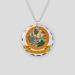 Florida Seal Necklace Circle Charm