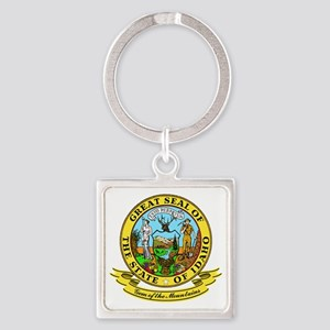 Idaho Seal Square Keychain
