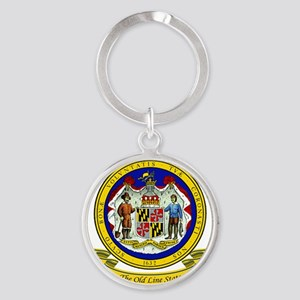 Maryland Seal Round Keychain