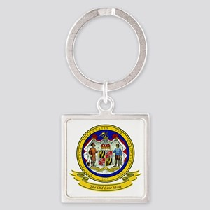 Maryland Seal Square Keychain