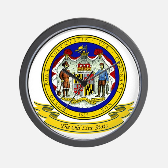Maryland Seal Wall Clock