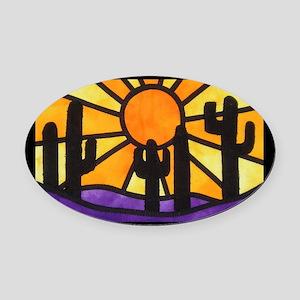 desert-daze-poster Oval Car Magnet