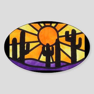 desert-daze-poster Sticker (Oval)