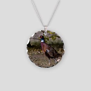 (4) Pheasant  497 Necklace Circle Charm