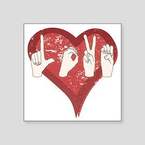 "LoveASL Square Sticker 3"" x 3"""
