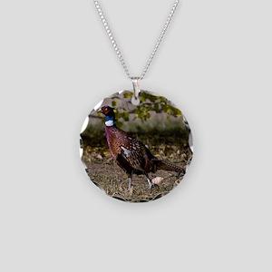 (15) Pheasant  497 Necklace Circle Charm