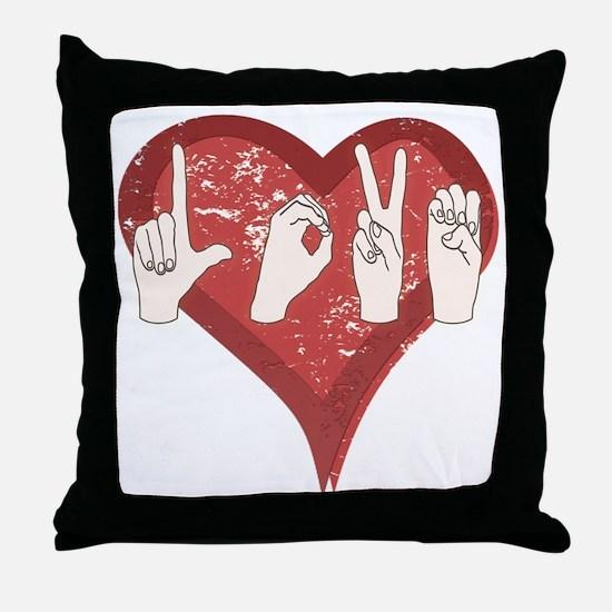 LoveASL Throw Pillow