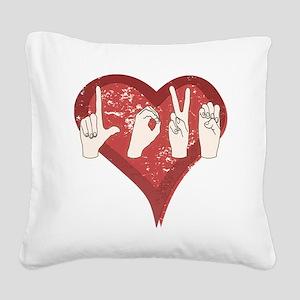 LoveASL Square Canvas Pillow