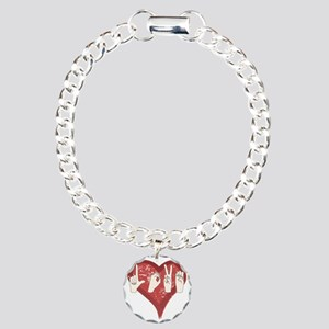 LoveASL Charm Bracelet, One Charm