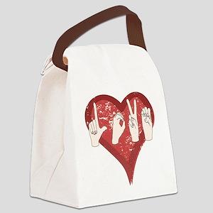 LoveASL Canvas Lunch Bag
