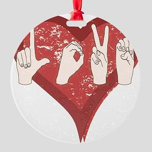 LoveASL Round Ornament