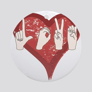 LoveASL Round Ornament