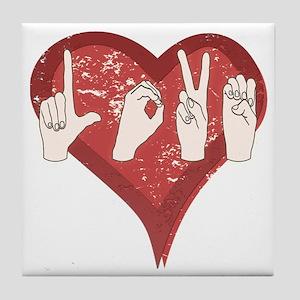 LoveASL Tile Coaster