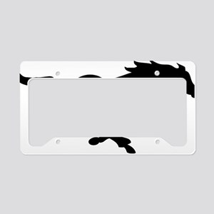 running mustang-black License Plate Holder