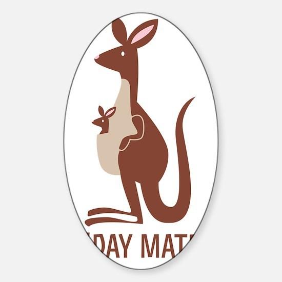 GDay Mate Kangaroo Sticker (Oval)