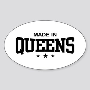 Made in Queens Oval Sticker