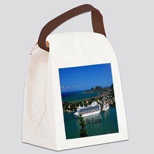 St. Lucia cruise ships52x62 Canvas Lunch Bag