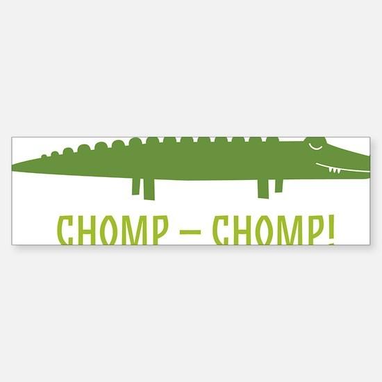 Chomp Alligator Sticker (Bumper)