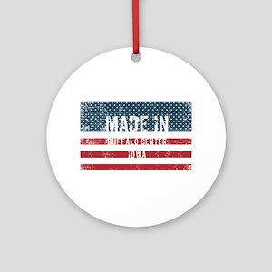 Made in Buffalo Center, Iowa Round Ornament