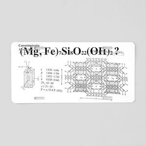 Cummingtonite Aluminum License Plate
