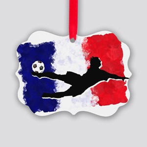 Soccer-France Picture Ornament