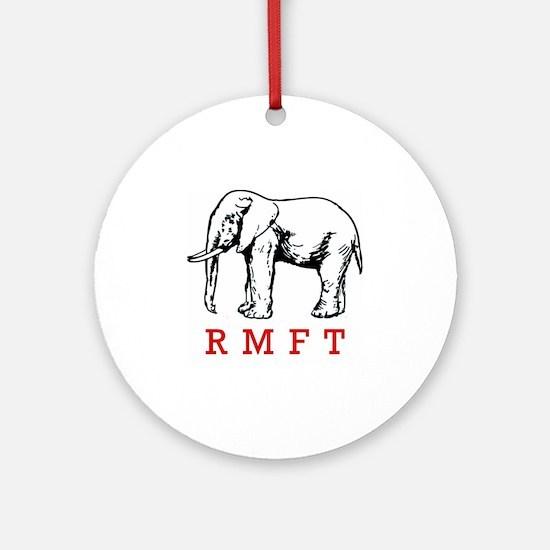 rmft t shirt copy Round Ornament