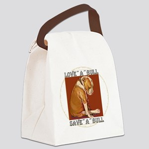 loveabullLrg Canvas Lunch Bag