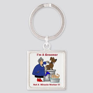 dog groomer Square Keychain