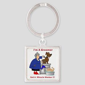 dog groomer Square Keychain