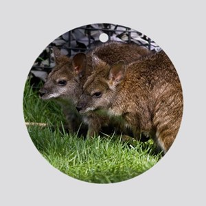 (15) Wallabies Round Ornament