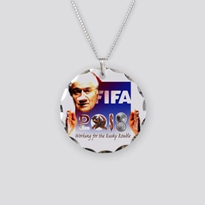 FIFA 2018 RUSKY ROUBLE Necklace Circle Charm