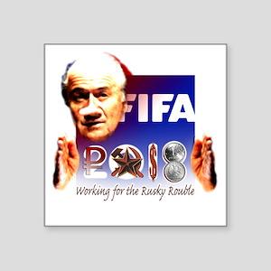 """FIFA 2018 RUSKY ROUBLE Square Sticker 3"""" x 3"""""""