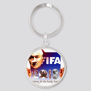 FIFA 2018 RUSKY ROUBLE Round Keychain