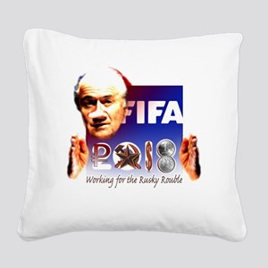 FIFA 2018 RUSKY ROUBLE Square Canvas Pillow