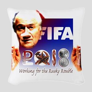 FIFA 2018 RUSKY ROUBLE Woven Throw Pillow