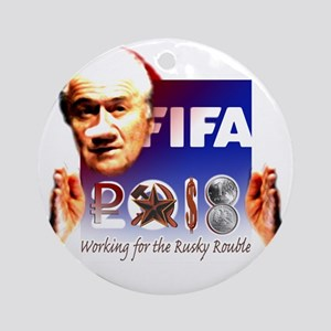 FIFA 2018 RUSKY ROUBLE Round Ornament