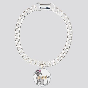 CatPainted Charm Bracelet, One Charm
