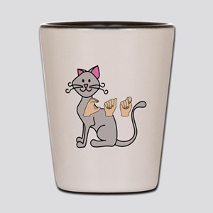CatPainted Shot Glass