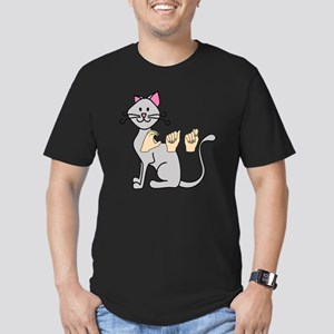 CatPainted Men's Fitted T-Shirt (dark)