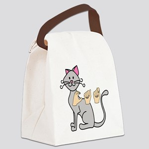 CatPainted Canvas Lunch Bag