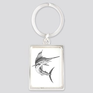 sailfish Portrait Keychain