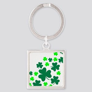 shamrocks_up Square Keychain