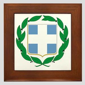 Greece Framed Tile