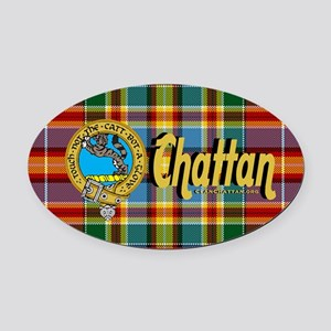chat3.5x5.5oval Oval Car Magnet