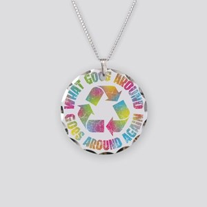 what-goes-around-T Necklace Circle Charm
